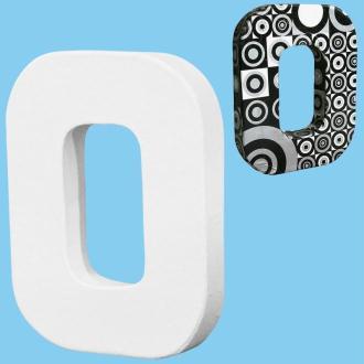 Lettre en carton mini 12 cm O