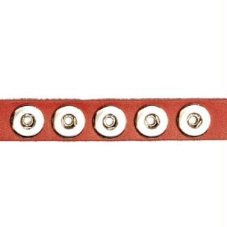 Bracelet à MINI bouton pression Clixy 24 cm - Rouge (bouton à clipser)
