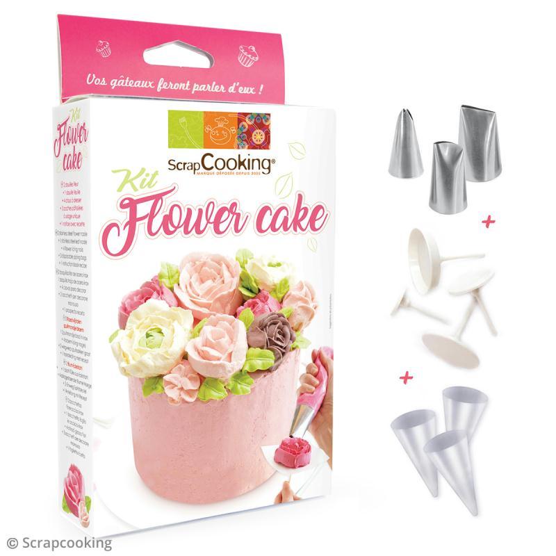 Kit flower cake scrapcooking coffret cuisine cr ative - Coffret cuisine creative ...