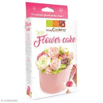 Kit Flower Cake ScrapCooking