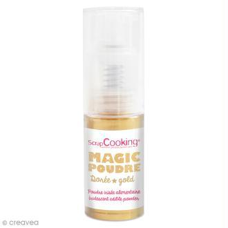 Poudre alimentaire irisée en spray - Magic poudre - Doré 7 g