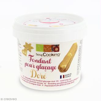 Fondant pour glaçage Doré - Préparation 150 g
