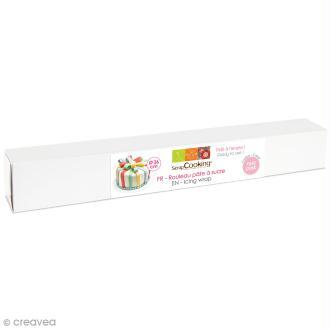 Rouleau de Pâte à sucre - rose - 36 cm