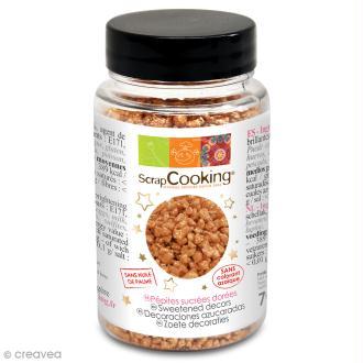 Pot de mini pépites dorées en sucre - 70 g