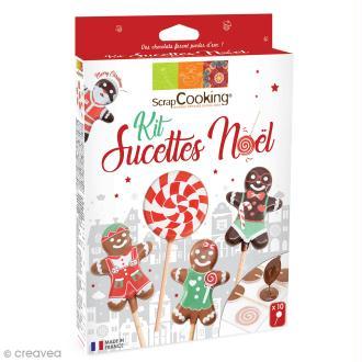 Kit sucettes de Noël - Candy pop et bonhomme pain d'épices