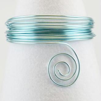 Fil aluminium 4 mm Bleu glace - Vaessen Creative - 2 m
