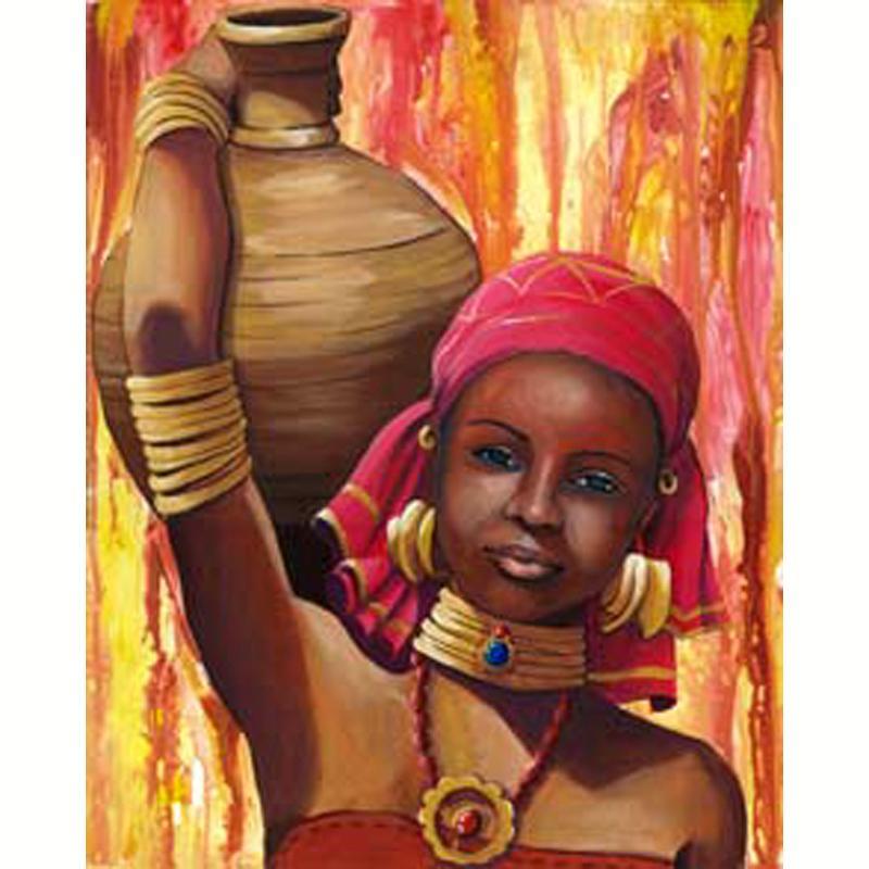 image 3d femme portrait d 39 africaine 40 x 50 images 3d 40x50 cm creavea. Black Bedroom Furniture Sets. Home Design Ideas