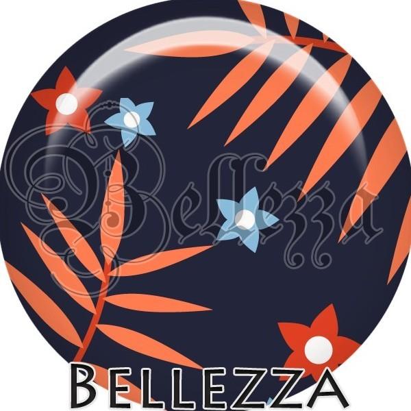 Cabochon, orange, ciel, marine, farandole color, plusieurs tailles disponibles - Photo n°1