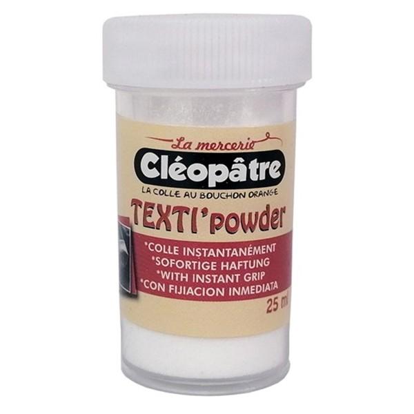 Colle Textile en poudre Cléopâtre - Texti'powder - 25 ml - Photo n°1