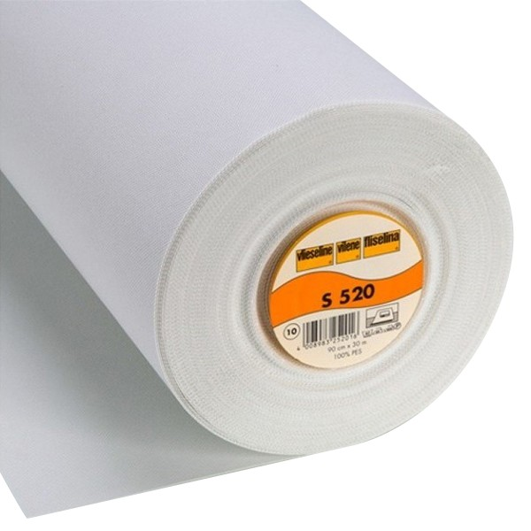 Entoilage thermocollant Vlieseline S520 - Blanc - Au mètre - Photo n°1