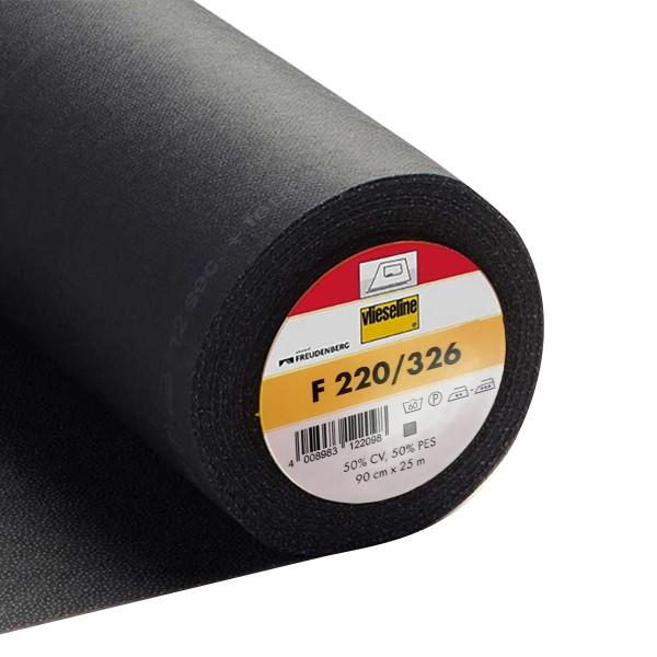 Entoilage thermocollant léger - Vlieseline F220 - Gris - Au mètre - Photo n°1