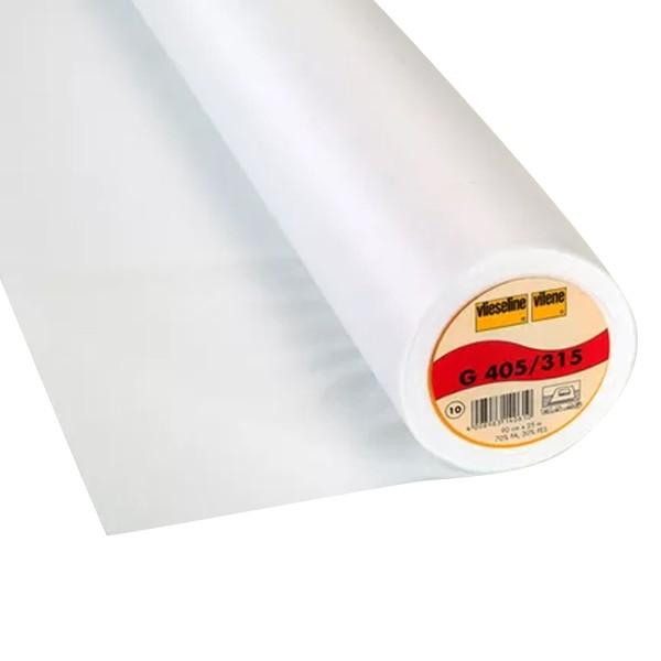 Entoilage thermocollant souple - Vlieseline G 405 - Blanc - Au mètre - Photo n°1