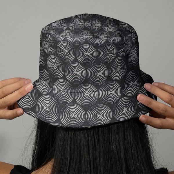 Tissu Dashwood Midnight garden - Spirales - Fond Bleu Marine - Par 10 cm - Photo n°2