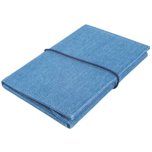 Portefeuille à customiser - Bleu jeans - 11 x 16 cm - Photo n°1
