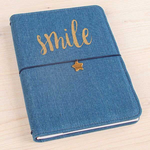 Planner A5 - Traveler's Notebook - Bleu jeans - 60 pages - Photo n°4