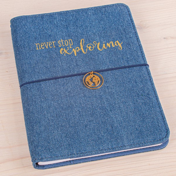 Planner A5 - Traveler's Notebook - Bleu jeans - 60 pages - Photo n°6