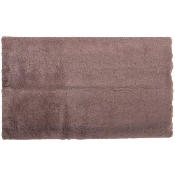 Coupon de tissu en peluche - Taupe - 51 x 43 cm - Photo n°1