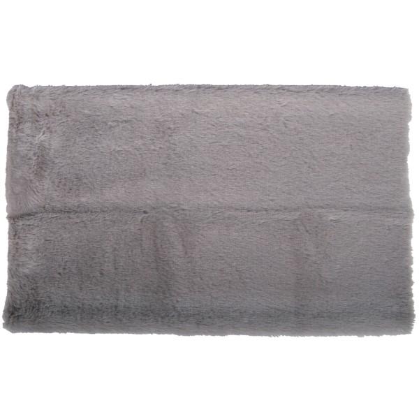 Coupon de tissu en peluche - Gris clair - 51 x 43 cm - Photo n°1