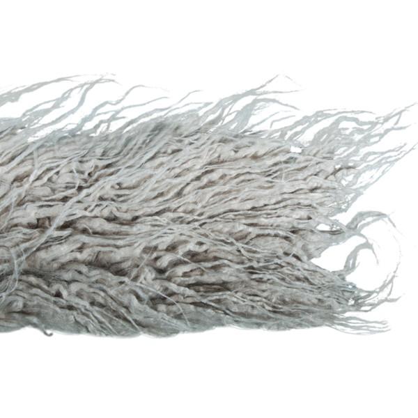 Coupon de tissu en peluche poils longs - Gris clair - 60 x 10 cm - Photo n°2
