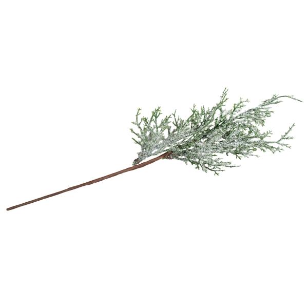 Branche de thuya - Enneigée - 37 cm - Photo n°2
