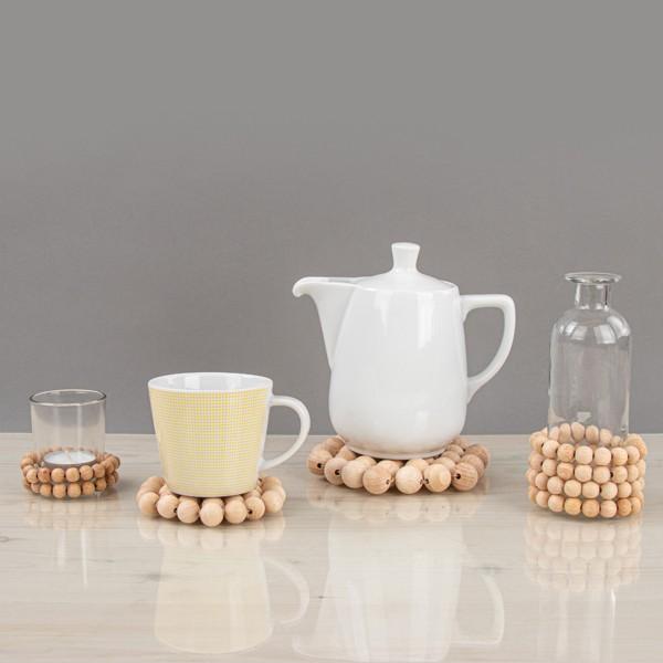 Assortiment de perles en bois - de 3 à 1 cm - 222 pcs - Photo n°2
