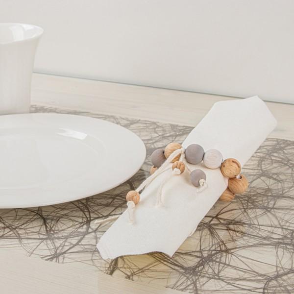 Assortiment de perles en bois - de 3 à 1 cm - 222 pcs - Photo n°3