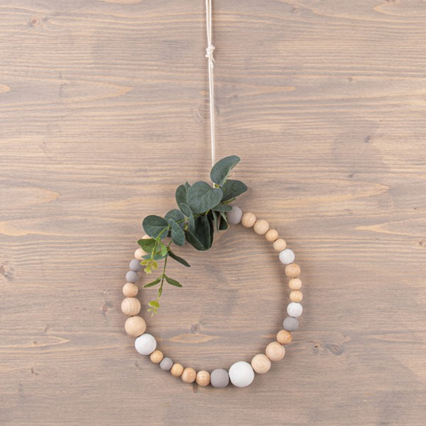 Assortiment de perles en bois - de 3 à 1 cm - 222 pcs - Photo n°4