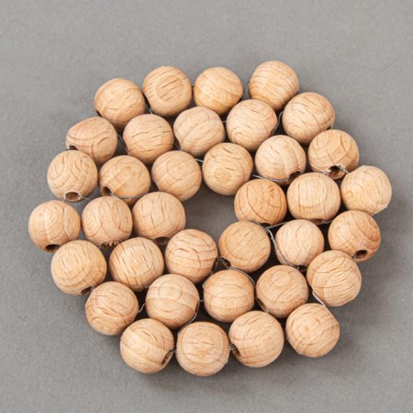 Assortiment de perles en bois - de 3 à 1 cm - 222 pcs - Photo n°5