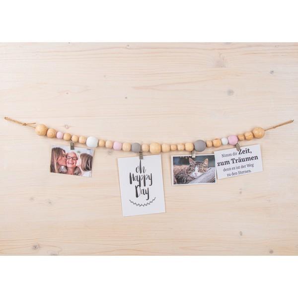 Assortiment de perles en bois - de 3 à 1 cm - 222 pcs - Photo n°6