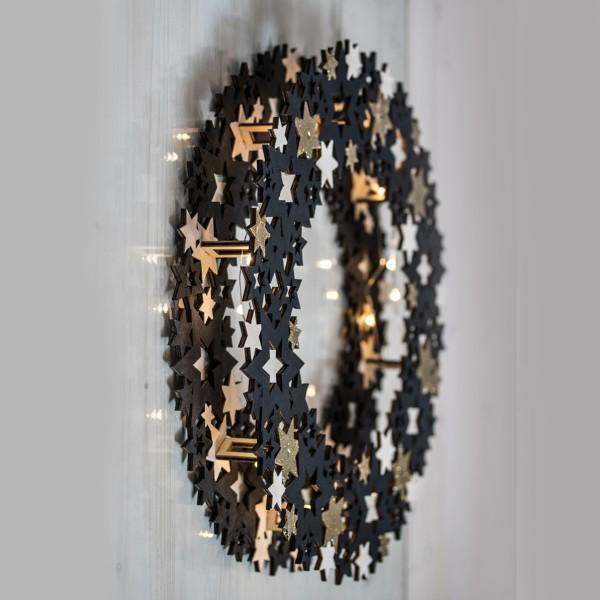 Kit couronne de bois - Étoiles - 10 pcs - Photo n°4