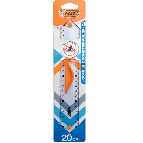 Règle 20 cm - Plastique semi-rigide résistant - 1 pce - Photo n°1