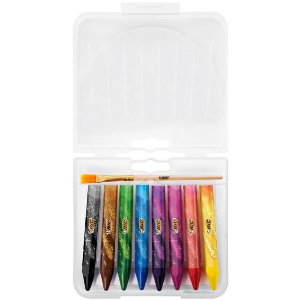 Crayons de coloriage Bic kids Duo Magix - Multiusages et multisurfaces - 9 pcs - Photo n°2