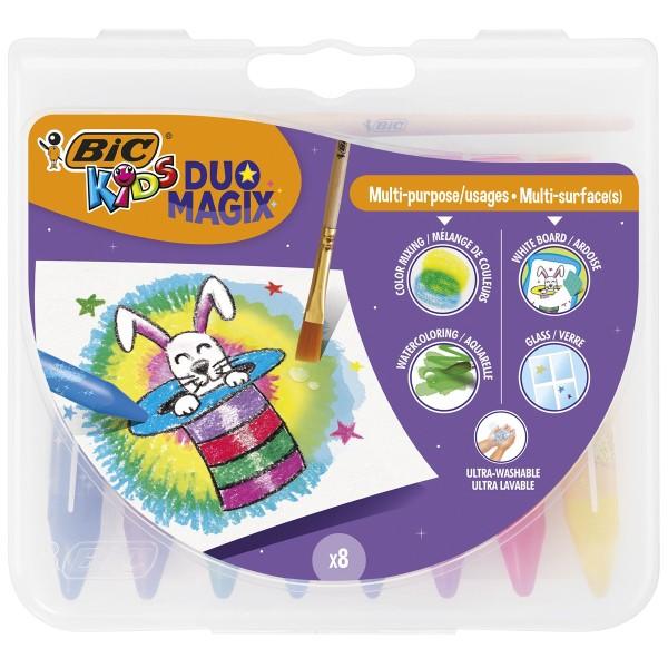 Crayons de coloriage Bic kids Duo Magix - Multiusages et multisurfaces - 9 pcs - Photo n°3