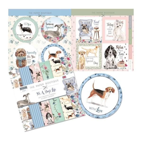 Papier scrapbooking  The Paper Boutique - It's a dog's life Kit - 20x20 - 36 feuilles - Photo n°2