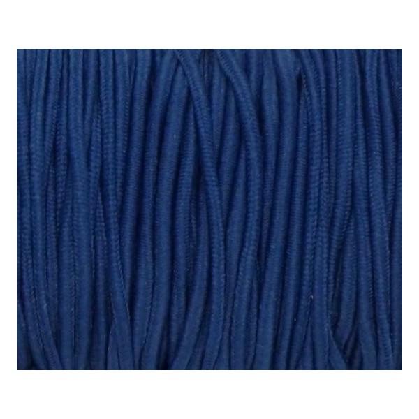 4m Élastique 1,8mm Rond Bleu Cobalt - Photo n°2