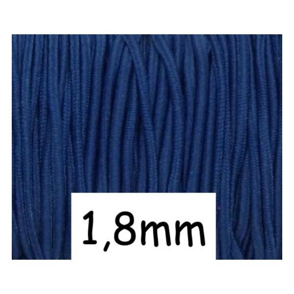 4m Élastique 1,8mm Rond Bleu Cobalt - Photo n°1