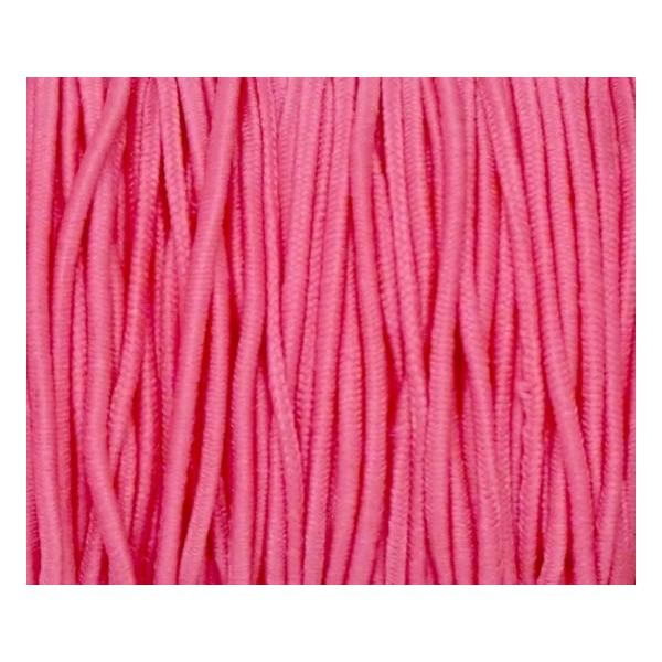 4m Élastique Rond Rose Lumineux 1,5mm - Photo n°2
