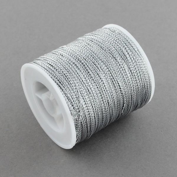Fil métallique tressé 0.8 mm argenté x 5 m - Photo n°1