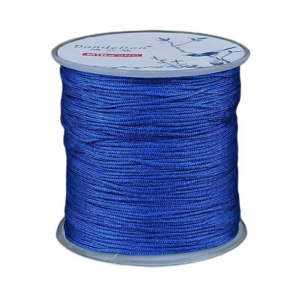 100m 328 Ft 109 4yrd Bleu Royal Macramé Fil de Perles de la Chaîne de Corde Tressée Kumihimo Noeud B - Photo n°1