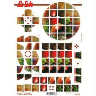 Carte 3D en pyramide Nature morte Noël 21 x 29,7 cm