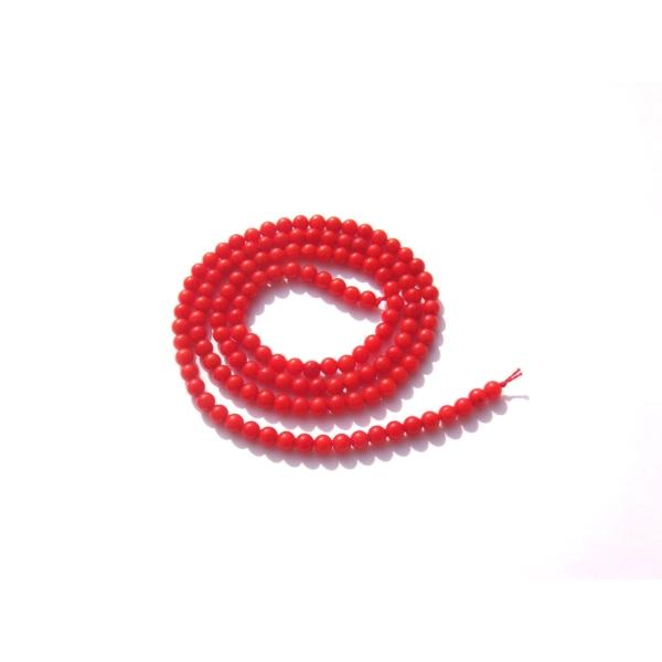 Corail Bambou :  10 perles MINI perles 3 MM de diamètre - Photo n°1