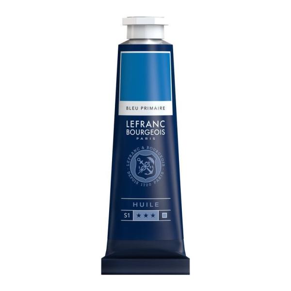 Peinture à l'huile fine 40ml Bleu primaire Lefranc & Bourgeois - Photo n°1