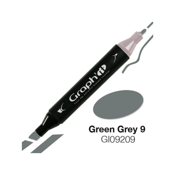 Graph'it marqueur à alcool 9209 - green grey 9 - Photo n°1