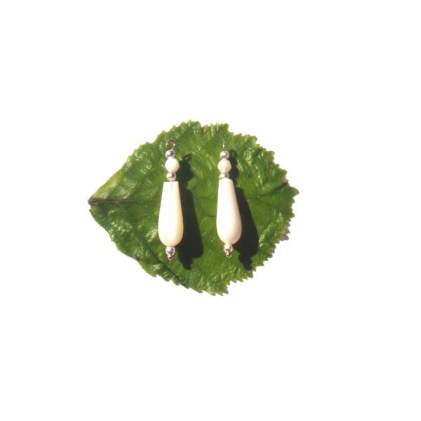 Nacre Blanche : Paire de pendentifs