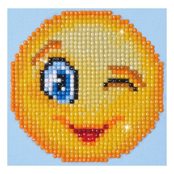 Kit Diamond painting - Smiley - 15 x 15 cm - Photo n°1