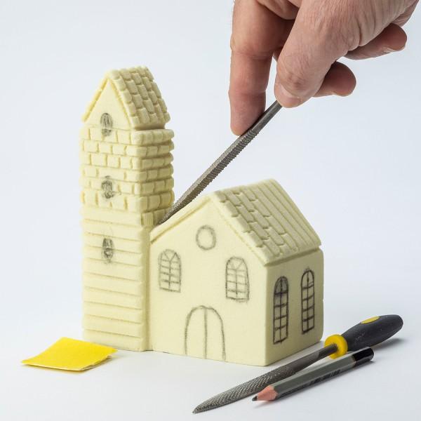 Bloc à sculpter et à peindre - 15x15x7,5 cm - Photo n°4