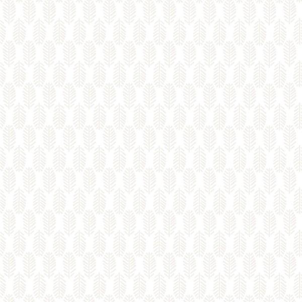 Tissu Toile de coton - Feuilles nacrées - Par 10 cm - Photo n°1