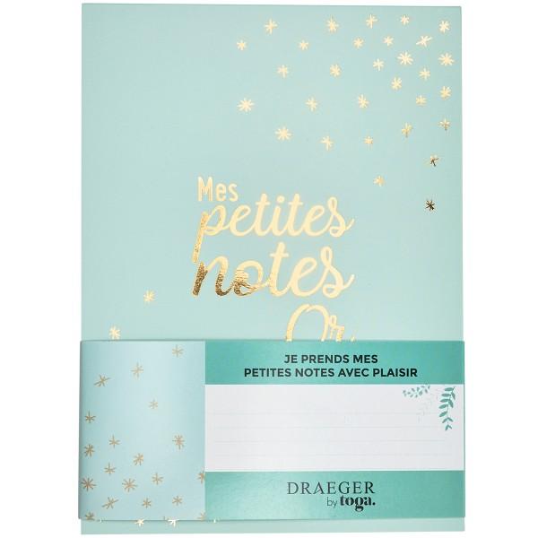 Carnet de notes - Mes petites notes en or - 13 x 18 cm - 100 pages - Photo n°1