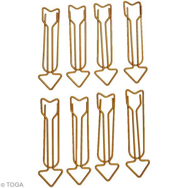 Trombones - Flèches Dorées - 56 x 12 mm - 8 pcs - Photo n°2