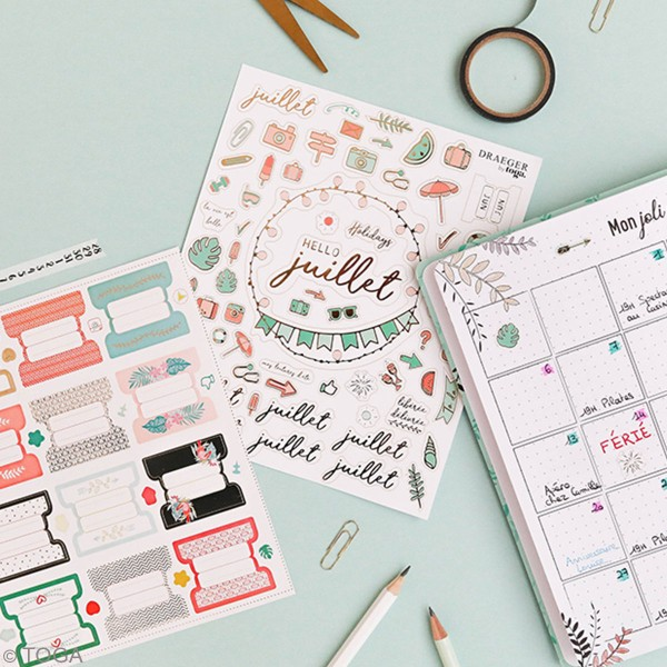 Stickers Bullet Journal - Onglets - 24 pcs - Photo n°2